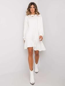 Sukienka Sheandher.pl z długim rękawem w stylu casual z okrągłym dekoltem