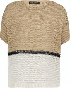 Bluzka Betty Barclay w stylu casual z okrągłym dekoltem z krótkim rękawem