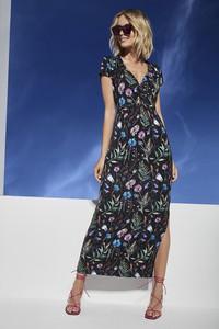 Sukienka Lavard z dekoltem w kształcie litery v z dzianiny