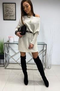 Sukienka LIMONKA z wełny mini z długim rękawem