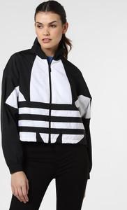 Czarna kurtka Adidas Originals z nadrukiem krótka