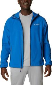 Niebieska kurtka Columbia krótka w sportowym stylu