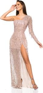 Sukienka LAVIKA maxi asymetryczna