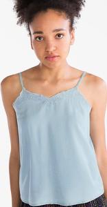 Niebieska bluzka CLOCKHOUSE z dekoltem w kształcie litery v