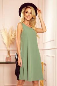 Zielona sukienka NUMOCO bez rękawów mini