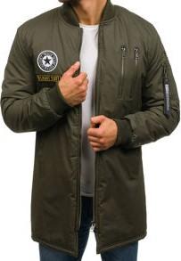 Szara kurtka denley bez wzorów z poliestru