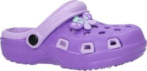 Fioletowe buty dziecięce letnie Casu