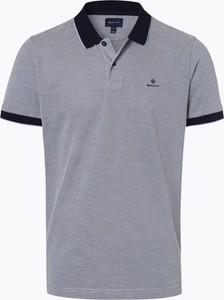 Fioletowa koszulka polo Gant z krótkim rękawem