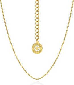 GIORRE SREBRNY DELIKATNY ŁAŃCUSZEK ANKER 925 : Długość (cm) - 45 + 5, Kolor pokrycia srebra - Pokrycie Żółtym 24K Złotem
