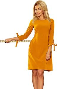 Sukienka NUMOCO z długim rękawem w stylu casual prosta
