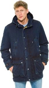 Granatowa kurtka Pepe Jeans w militarnym stylu
