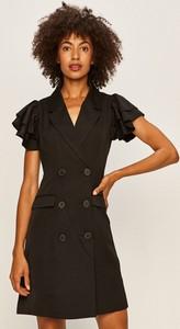 Sukienka Vero Moda mini z dekoltem w kształcie litery v z tkaniny