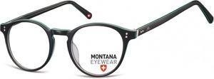 Stylion Okrągłe oprawki optyczne,lenonki korekcyjne Montana MA62E czarne + zielone