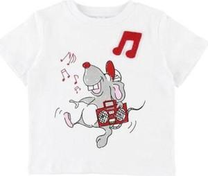 Bluzka dziecięca Stella McCartney dla dziewczynek z bawełny z krótkim rękawem