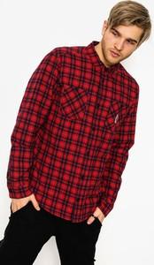 Czerwona koszula RVCA z długim rękawem z bawełny