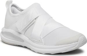 Buty sportowe Adidas ze skóry ekologicznej z płaską podeszwą