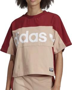 Bluzka Adidas w sportowym stylu z bawełny z krótkim rękawem