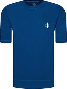 Niebieski t-shirt Calvin Klein Underwear z krótkim rękawem