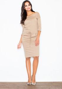 Sukienka sukienki.pl z długim rękawem z bawełny oversize
