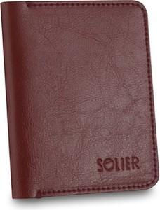 Czerwony portfel męski Solier