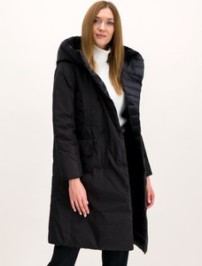 Granatowy płaszcz Hetregó w stylu casual