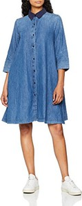 Sukienka amazon.de z długim rękawem koszulowa midi