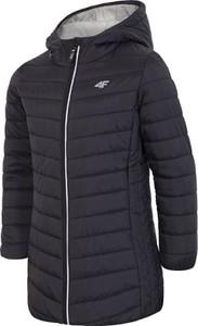 Czarny płaszcz dziecięcy 4F
