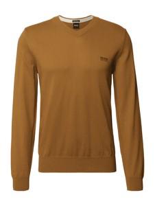 Brązowy sweter Hugo Boss z okrągłym dekoltem w stylu casual