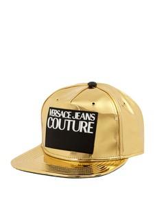 Złota czapka Versace Jeans