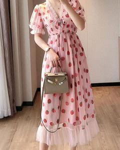 Różowa sukienka Kendallme maxi trapezowa