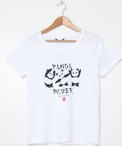 T-shirt House z okrągłym dekoltem z krótkim rękawem z bawełny