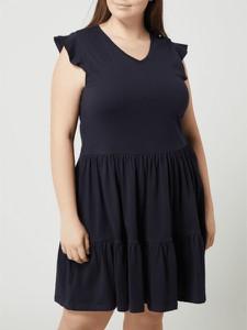 Granatowa sukienka Only z krótkim rękawem w stylu casual z bawełny