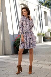 Sukienka Lemoniade z długim rękawem z okrągłym dekoltem w stylu casual