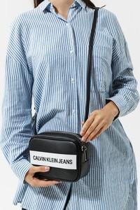 Czarna torebka Calvin Klein duża lakierowana