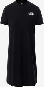 Czarna sukienka The North Face w sportowym stylu z krótkim rękawem