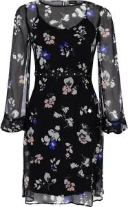 Sukienka Liu-Jo z długim rękawem mini z jedwabiu