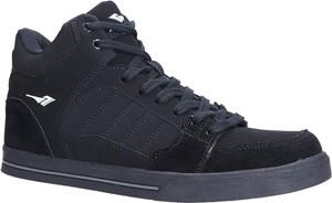 Czarne buty sportowe sznurowane Casu A2278-1
