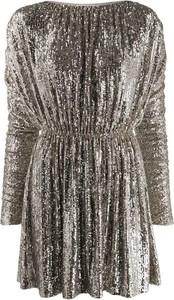 Sukienka SAINT LAURENT z długim rękawem