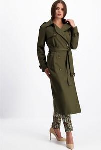 Zielony płaszcz Lavard w stylu casual
