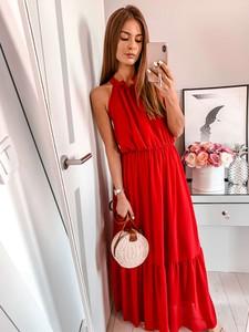 Sukienka L'Amour oversize z dekoltem halter