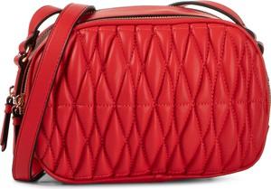 Czerwona torebka PUCCINI pikowana średnia