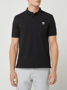 Czarna koszulka polo Timberland z krótkim rękawem z bawełny