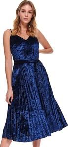 Sukienka Top Secret z dekoltem w kształcie litery v koszulowa