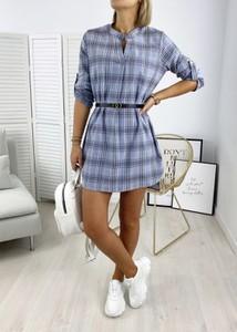 Sukienka Ubra koszulowa z bawełny z długim rękawem