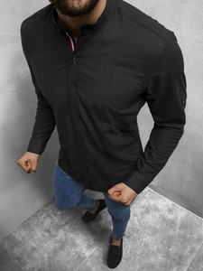Koszula Ozonee z klasycznym kołnierzykiem w stylu casual