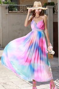 Sukienka IVET z dekoltem w kształcie litery v