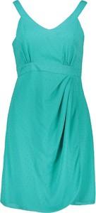 Zielona sukienka Naf naf mini na ramiączkach