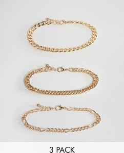 ASOS DESIGN –Zestaw łańcuszków w kolorze złotym w stylu vintage