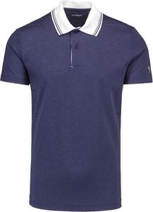 Granatowa koszulka polo Chervo z krótkim rękawem w stylu casual