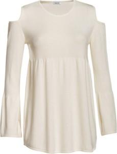 Bluzka Veva z okrągłym dekoltem w stylu casual